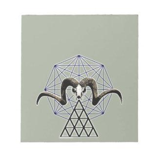 Ram skull sacred geometry notepad