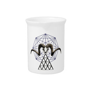 Ram skull sacred geometry pitcher