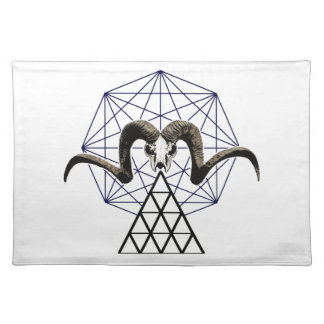 Ram skull sacred geometry placemat