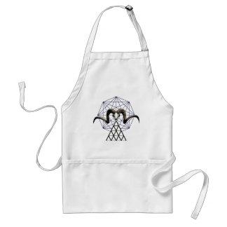Ram skull sacred geometry standard apron