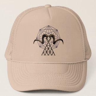 Ram skull sacred geometry trucker hat