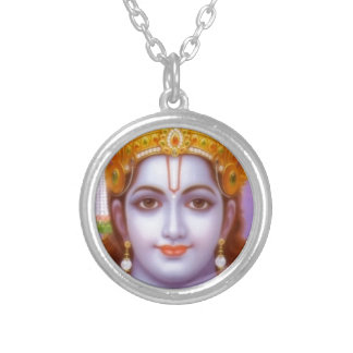 rama god silver plated necklace