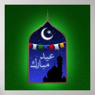 Ramadan Eid Window - Poster Print