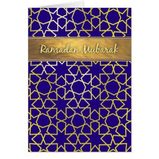 Ramadan Mubarak Purple and gold-look ramadan card