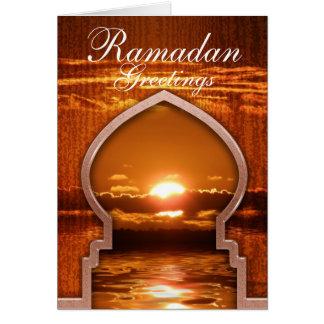 Ramadan Sunset Greetings Card