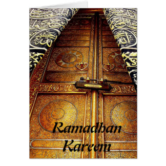 Ramadhan Kareem Islamic Muslim greeting card