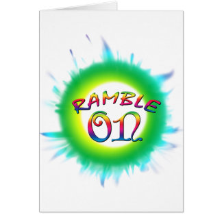 Ramble On Card