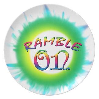 Ramble On Plate