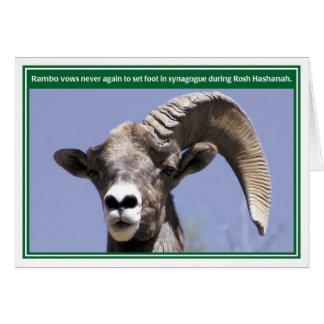 Rambo Funny Rosh Hashanah Card