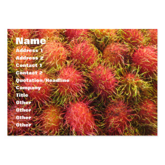 Rambutan Tropical Fruit Pack Of Chubby Business Cards