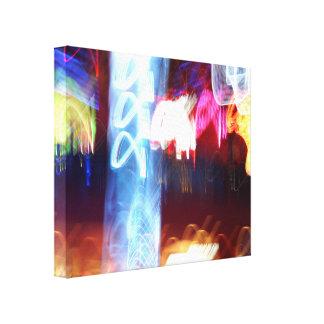 Ramdom Lights Stretched Canvas Prints