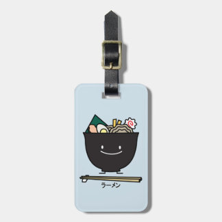 Ramen Bowl chopstick pork seaweed Japanese noodles Luggage Tag