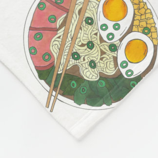 Ramen Noodles Bowl Japanese Food Restaurant Foodie Fleece Blanket