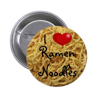 ramen noodles, clip art heart, I , Ramen Noodles 6 Cm Round Badge