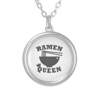Ramen Queen Silver Plated Necklace