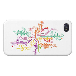 Ramified city iPhone 4 cover