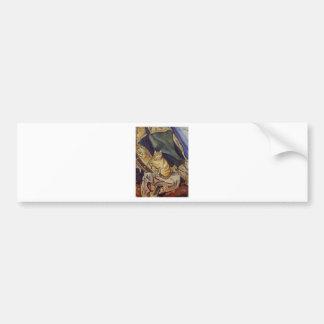 Raminou sitting on a cloth by Suzanne Valadon Bumper Sticker