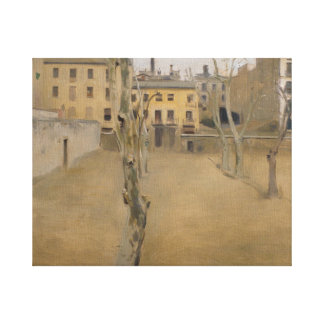 Ramon Casas -Courtyard of the Old Barcelona Prison Canvas Print