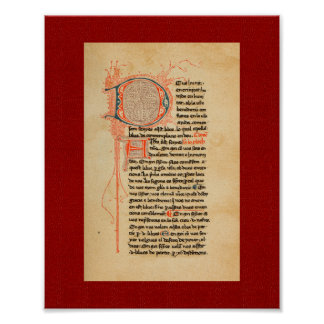 Ramon Llull: 13th Century Illuminated Manuscript Poster