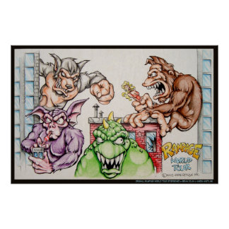 Rampage World Tour Storyboard Poster