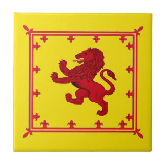 Rampant lion, Scotland's ancient flag Ceramic Tile