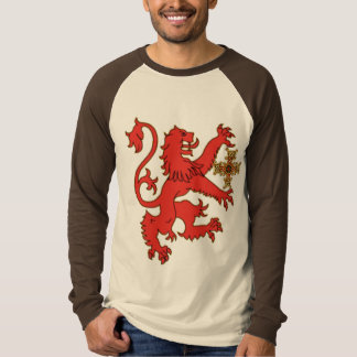 Rampant Lion with Celtic Cross T-Shirt