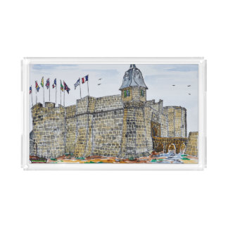 Ramparts  & Gate of Concarneau | Brittany, France Acrylic Tray