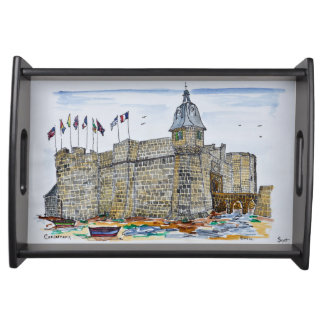 Ramparts  & Gate of Concarneau   Brittany, France Serving Tray