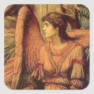 Ramparts of God's House, angel detail by Strudwick Square Sticker