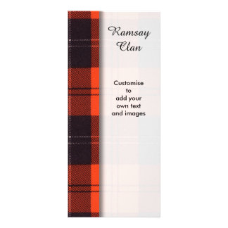 Ramsay Clan Plaid Scottish tartan Custom Rack Cards