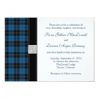 "Ramsay Hunting Tartan Celtic Wedding Invitation 5"" X 7"" Invitation Card"