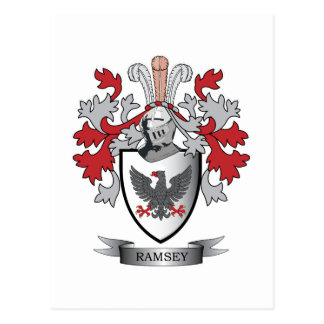 Ramsey Family Crest Coat of Arms Postcard