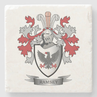 Ramsey Family Crest Coat of Arms Stone Coaster
