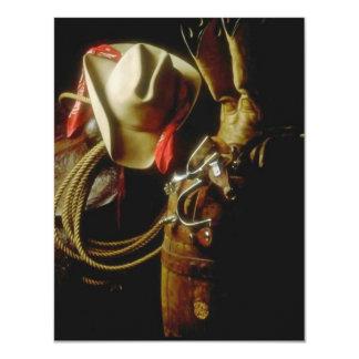 Ranch Western Wear Gear Blank Announcement invite