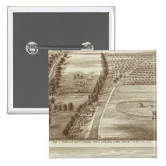 Ranches, Tulare Co, Cal 15 Cm Square Badge