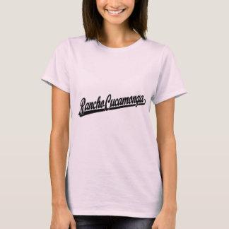 Rancho Cucamonga script logo in black T-Shirt