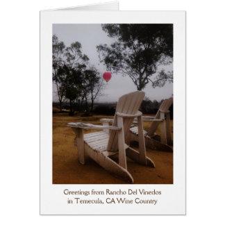 Rancho Del Vinedos Temecula, CA balloon view card