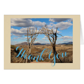 Rancho Del Vinedos Temecula Thank You cards arch