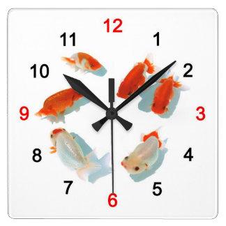 Ranchuの壁掛け時計 Square Wall Clock