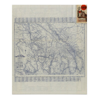 Rand McNally Official 1925 Auto Trails Map 2 Poster