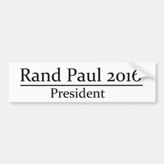 Rand Paul 2016 President Simple Design Bumper Sticker