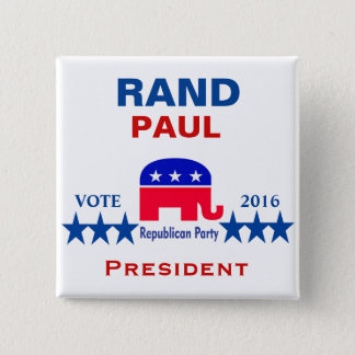 Rand Paul for President 2016 15 Cm Square Badge