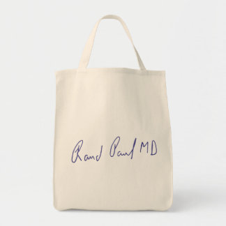 Rand Paul MD Signature Autograph Tote Bag