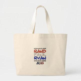 Rand Paul Ryan 2016 Presidential Election Tote Bags