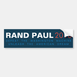 Rand Paul Unleash the American Dream Bumper Sticker