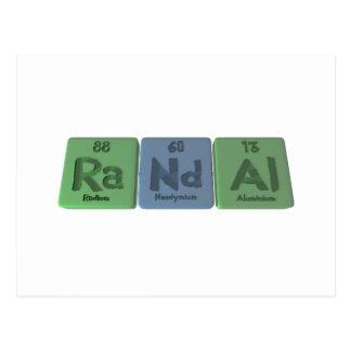 Randal  as Radium Neodymium Aluminium Post Cards