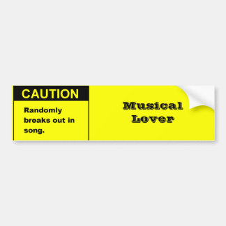 Randmon Song Bumper Stickers