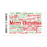Random Act of Kindness Christmas Cards Business Card Template