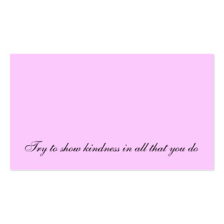 Random Act Of Kindness Idea Pack Of Standard Business Cards