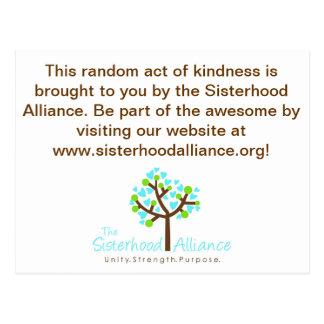 Random Act of Kindness Project Postcard